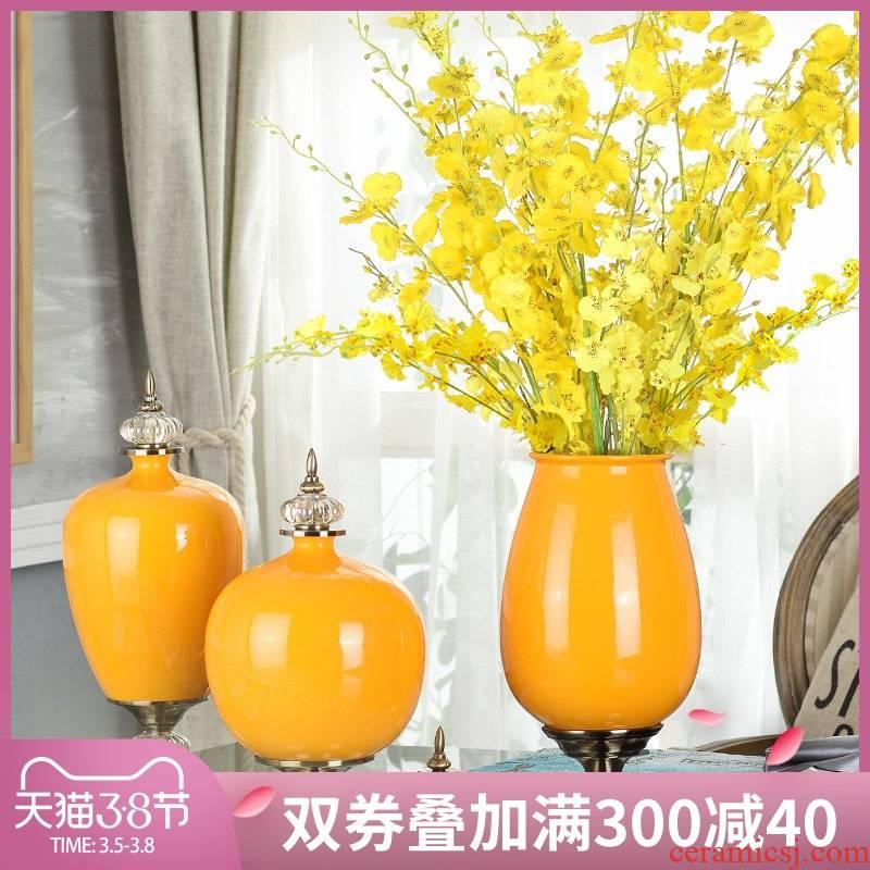 Home decoration vase soft furnishing articles ceramic handicraft artical example room living room TV cabinet decoration