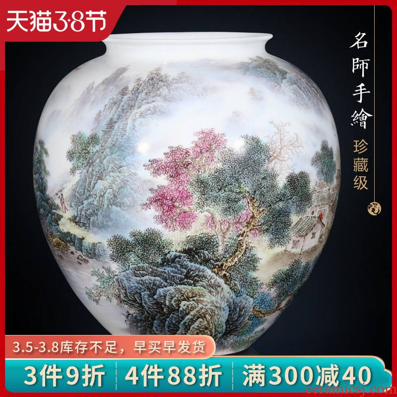 Jingdezhen ceramics masters hand shan chunxiao vase furnishing articles home sitting room flower decoration