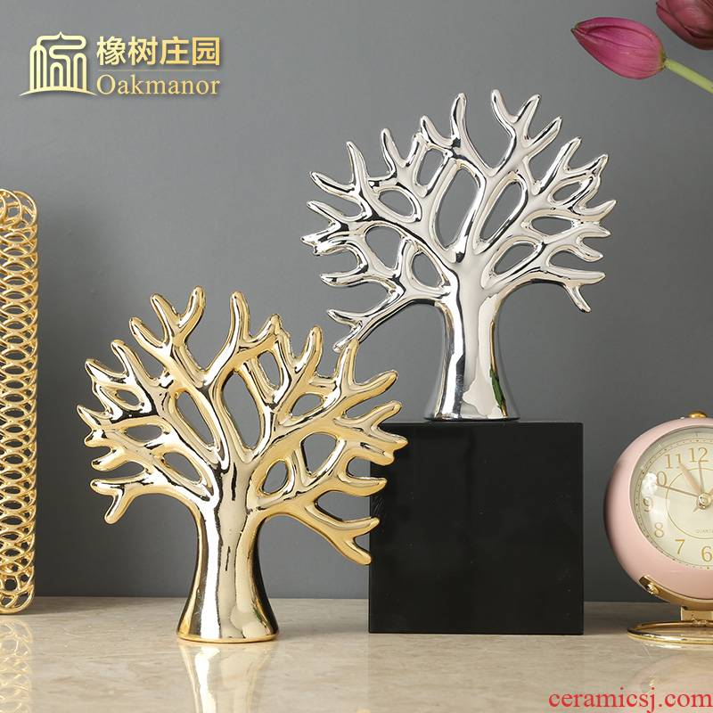 Creative rich tree furnishing articles lucky room sitting room decorate a desktop ceramic decoration home decoration and crafts
