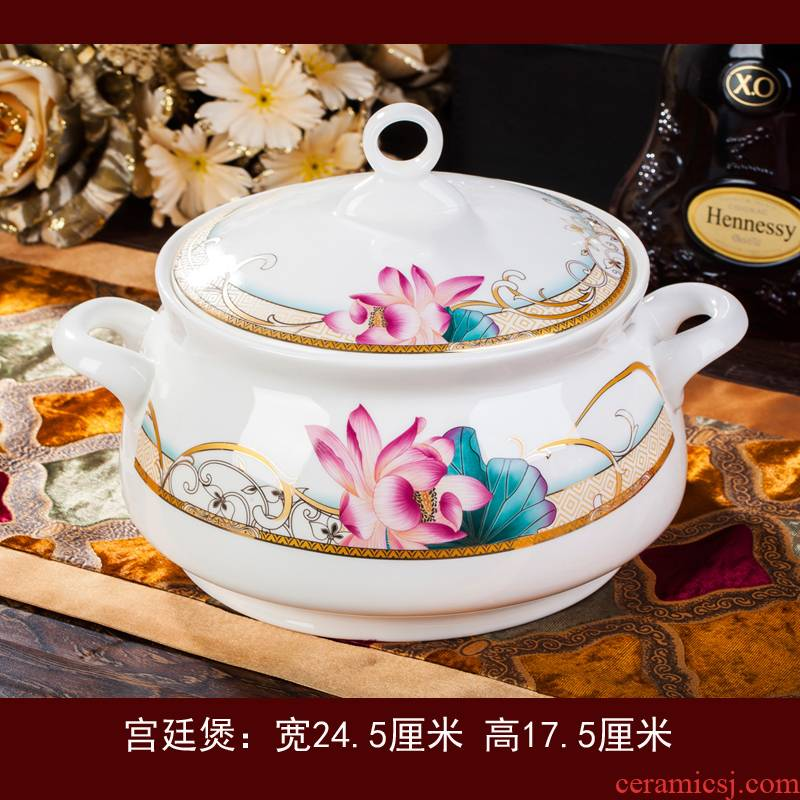 Jingdezhen ceramic purple ipads porcelain tableware suit better industry dishes home dishes chopsticks dishes free collocation