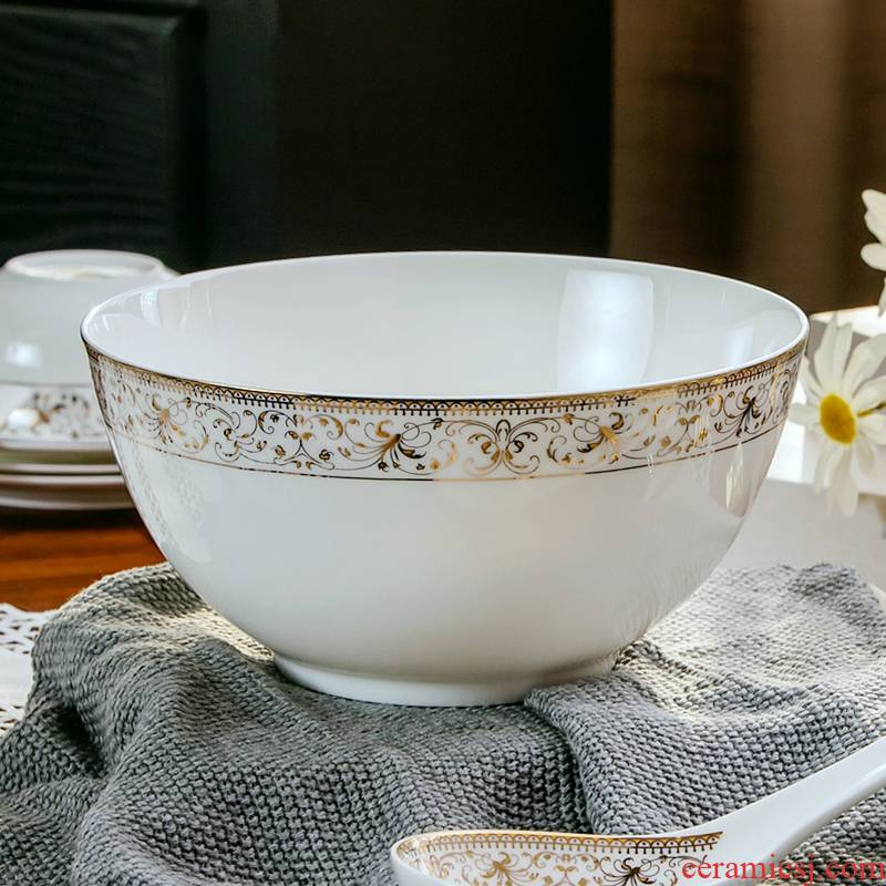 Creative tableware bowls bowl big ipads soup bowl eight inches rainbow such use European ceramic bowl of soup basin microwave dinner