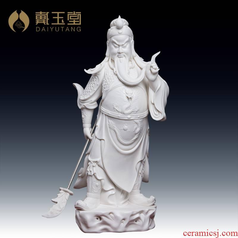 Yutang dai Liu Mingzhi master for dehua porcelain carving of Buddha furnishing articles Sir Zhong wu mammon duke guan/D19-24