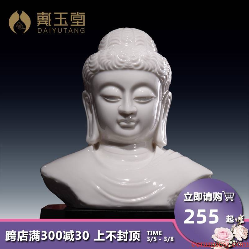 Yutang dai ceramic beadle furnishing articles creative living room desktop worship supplies/lu house that Buddha D19-14