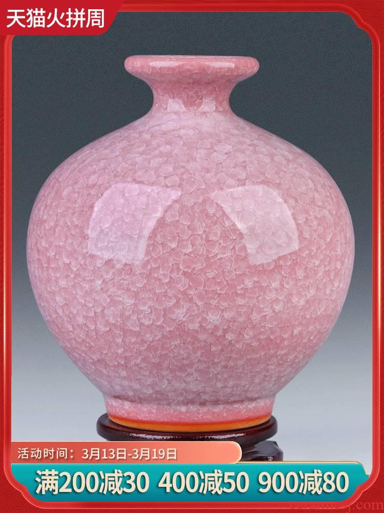 Jingdezhen ceramics antique vases, flower arranging Chinese I sitting room adornment home furnishing articles desktop TV ark