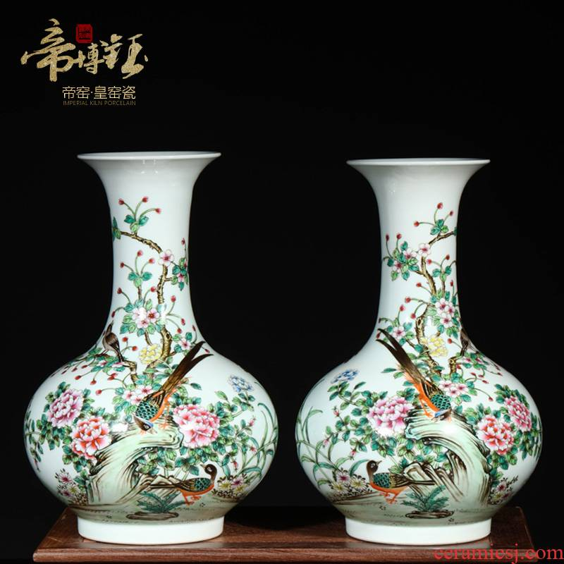Jingdezhen ceramic yongzheng hand - made flowers and birds in com.lowagie.text.paragraph pastel bottles of archaize ceramic vase handicraft decorative furnishing articles