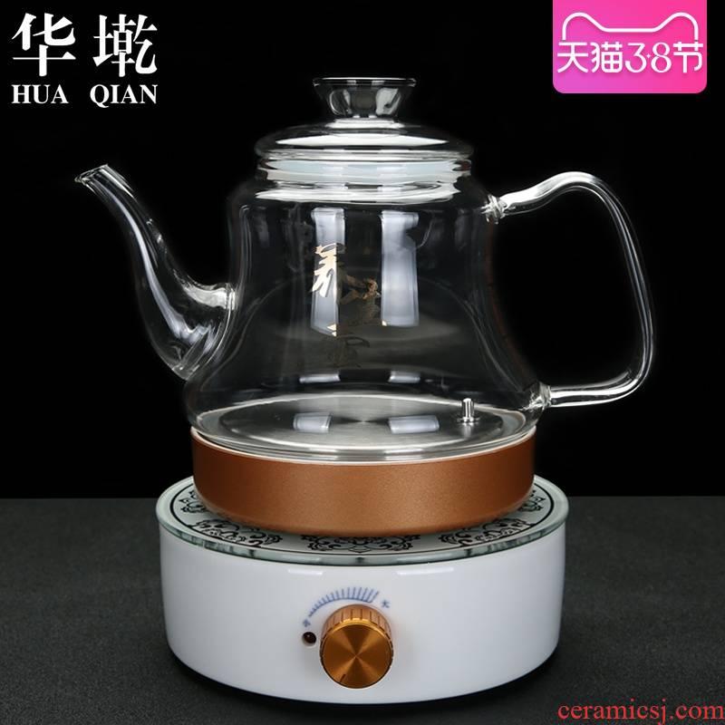 China Qian boiling tea electric TaoLu ceramic tea ware has large heat - resistant glass tea pot small induction cooker furnace tea sets