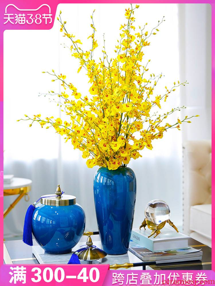 American household ceramic vase dried flower arranging flowers light key-2 luxury furnishing articles ou the sitting room porch TV ark adornment ornament