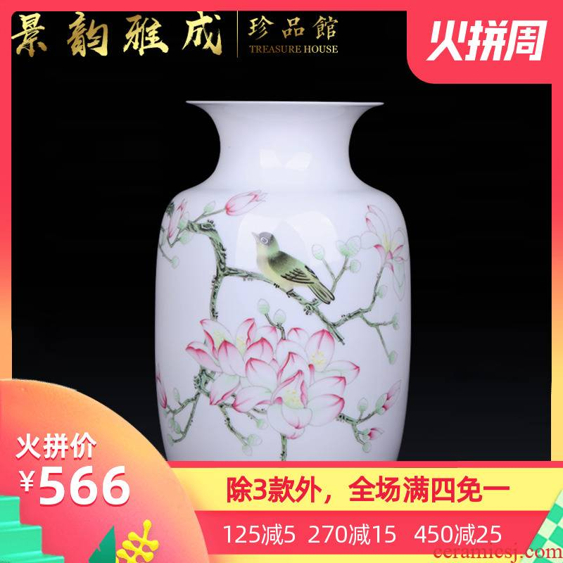 Jingdezhen ceramic I and contracted pure hand - made vases, decorative furnishing articles sitting room porch flower arranging porcelain arts and crafts