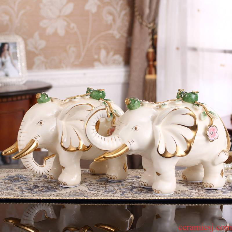 Elephant furnishing articles a European household decoration craft ceramics in the sitting room porch decorate housewarming wedding gift
