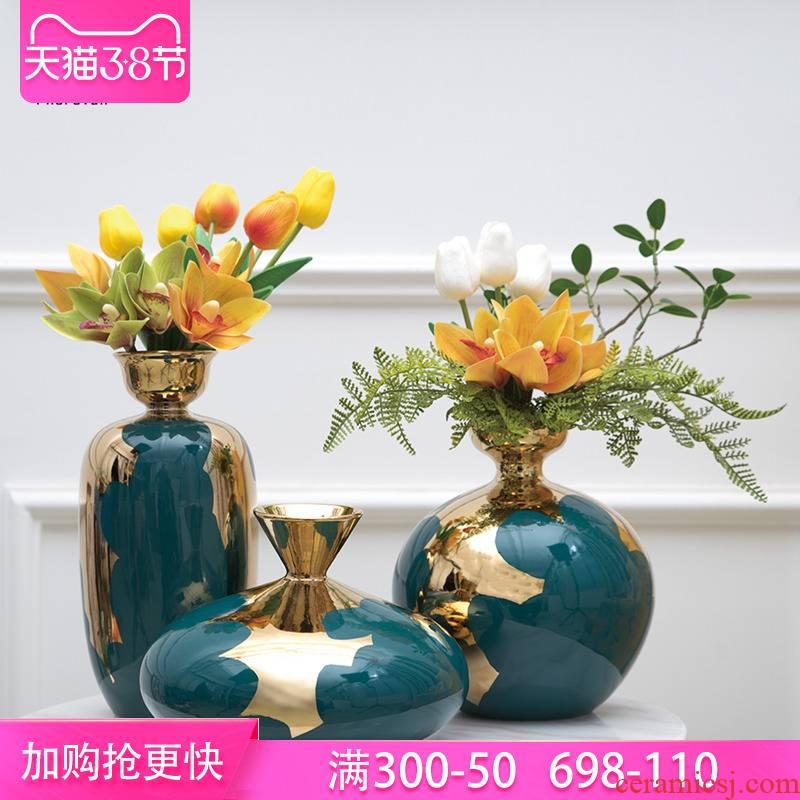 European American ceramic vase furnishing articles home sitting room dry flower arranging flowers home TV ark, decoration decoration ideas