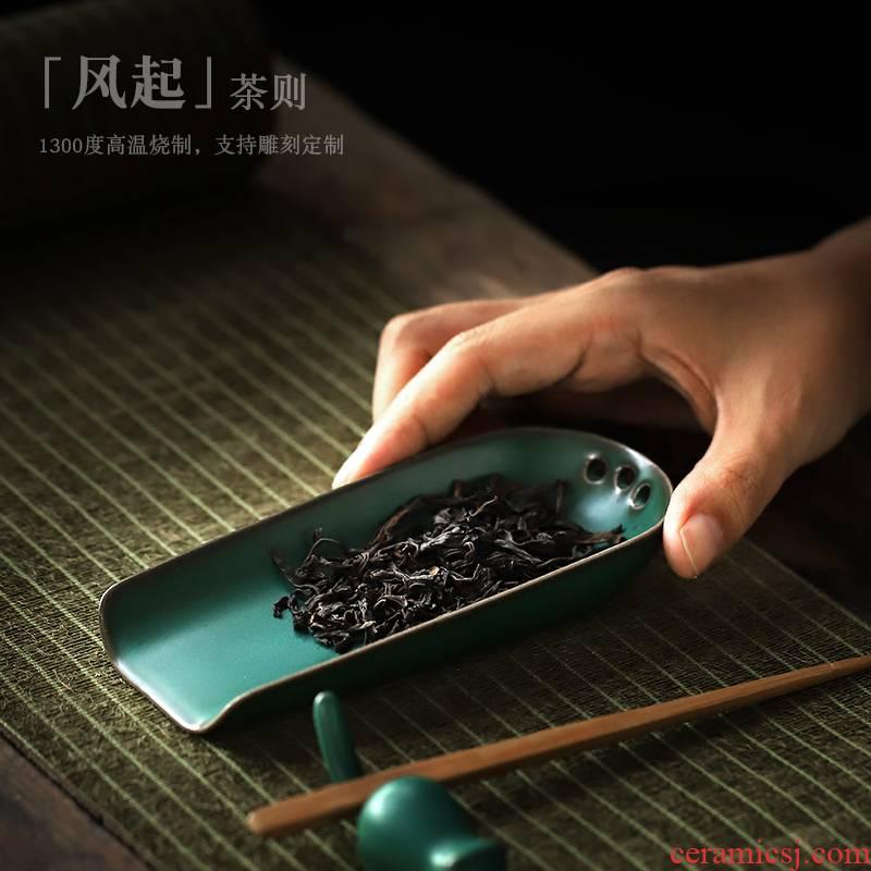 ShangYan Japanese kung fu tea accessories ceramic tea, enjoy tea holder wake creative tea spoon shovel TSP restoring ancient ways