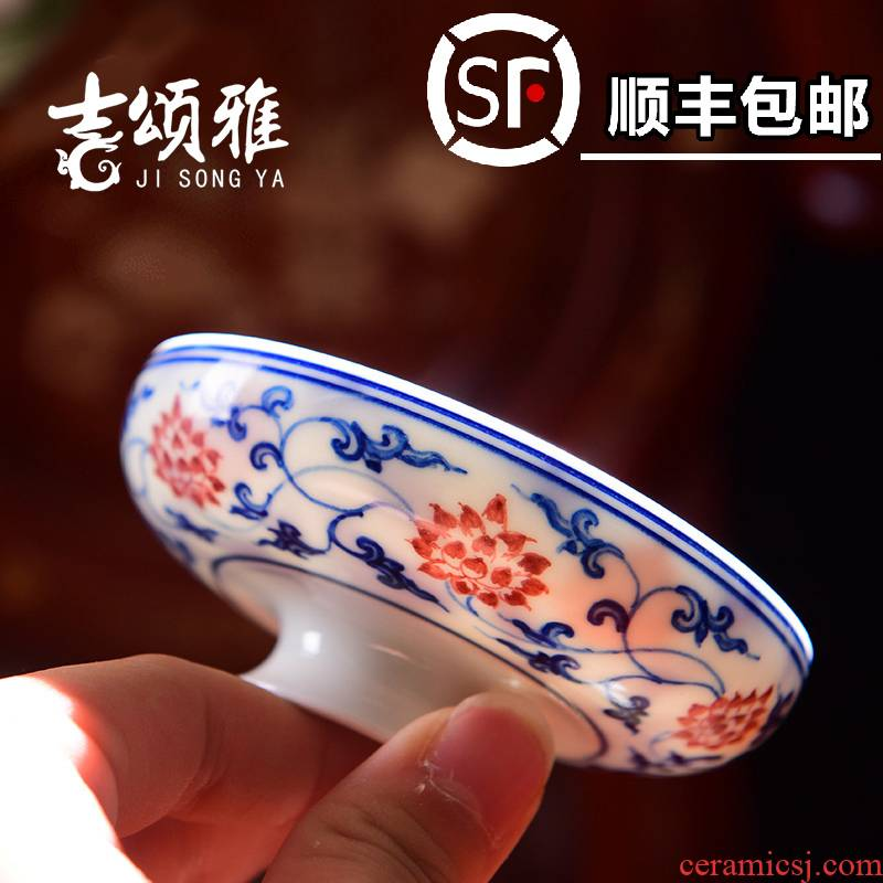 Jingdezhen ceramic checking pu - erh tea cup kung fu tea master cup tea set single cup bowl under the glaze color sample tea cup