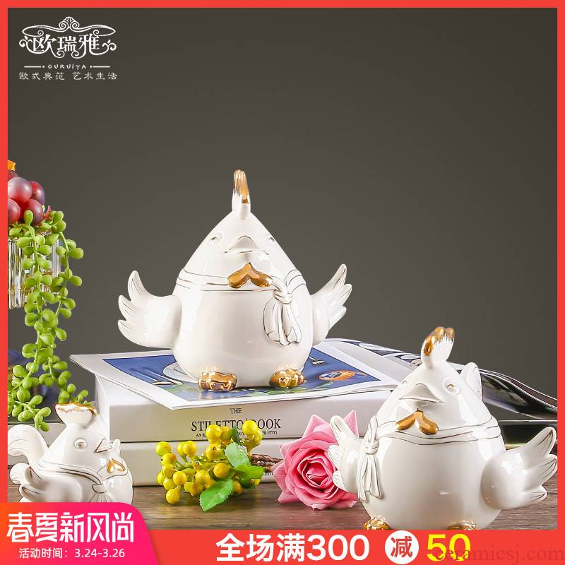 Originality of chicken furnishing articles European I and contracted sitting room the bedroom TV ark, study ceramic decoration wedding gift