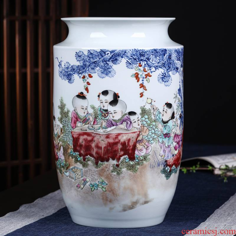 Offered home - cooked hand - made in blue and white porcelain vase pure manual youligong jingdezhen porcelain furnishing articles home sitting room adornment