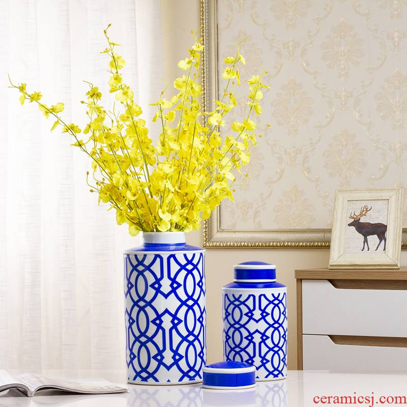 Ceramic vase furnishing articles storage tank sitting room flower arrangement between modern new classical example home wine ark, adornment ornament
