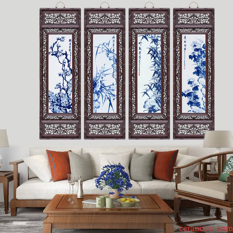 Ceramic plate painting murals sofa background wall of the sitting room adornment style of the ancients hollow - out by patterns porch corridor hang a picture