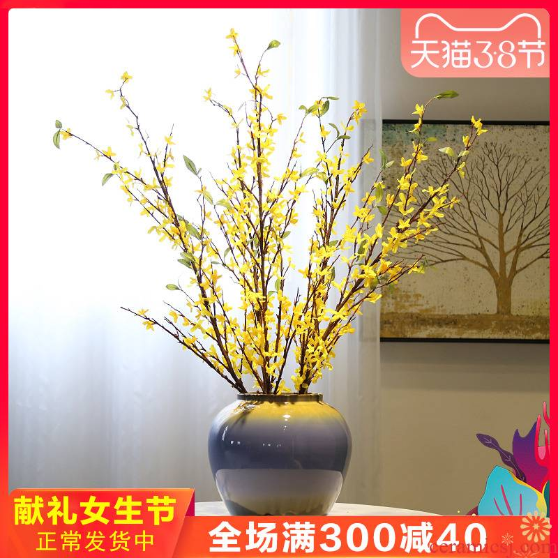 Jingdezhen new Chinese vase mesa table what sitting room ark place TV ark, decoration ceramic flower flower