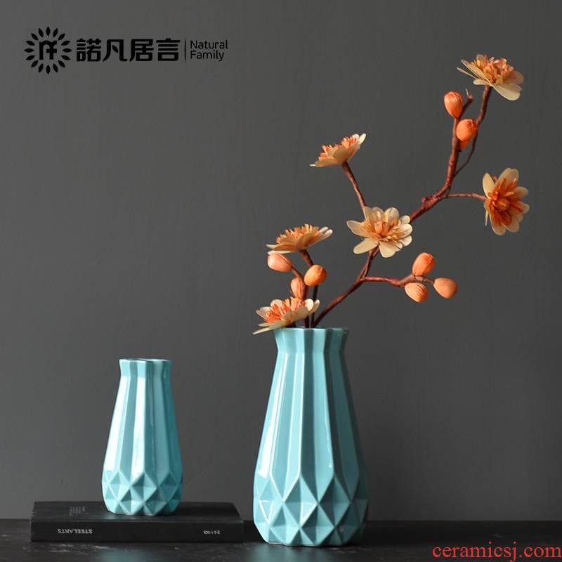 Mesa ceramics vase sitting room the hotel housing, dried flower arranging flowers ling, floret, European rural decorations