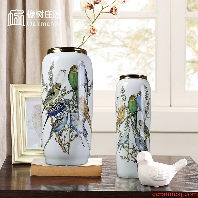 High key-2 luxury ceramic art vases, flower arrangement sitting room place between European example light much dry flower decoration porcelain decoration