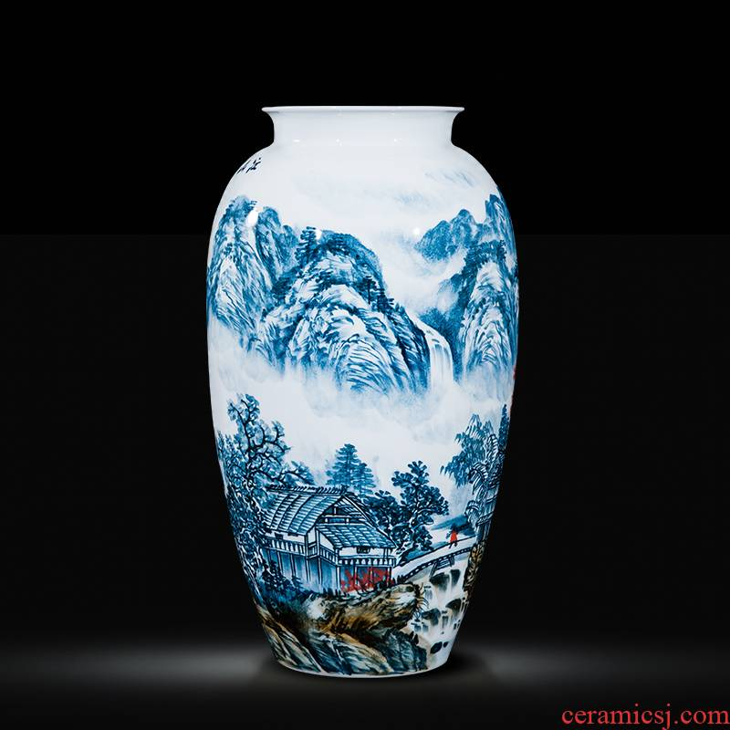 The Master of jingdezhen ceramics hand - made big vase home sitting room adornment is placed, the hotel villa, arts and crafts