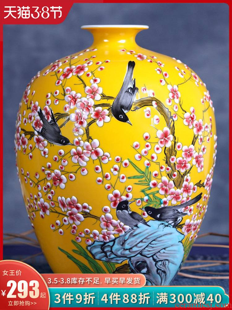 Jingdezhen ceramic vases, flower arrangement sitting room porch decoration of Chinese style household TV ark, China to get I
