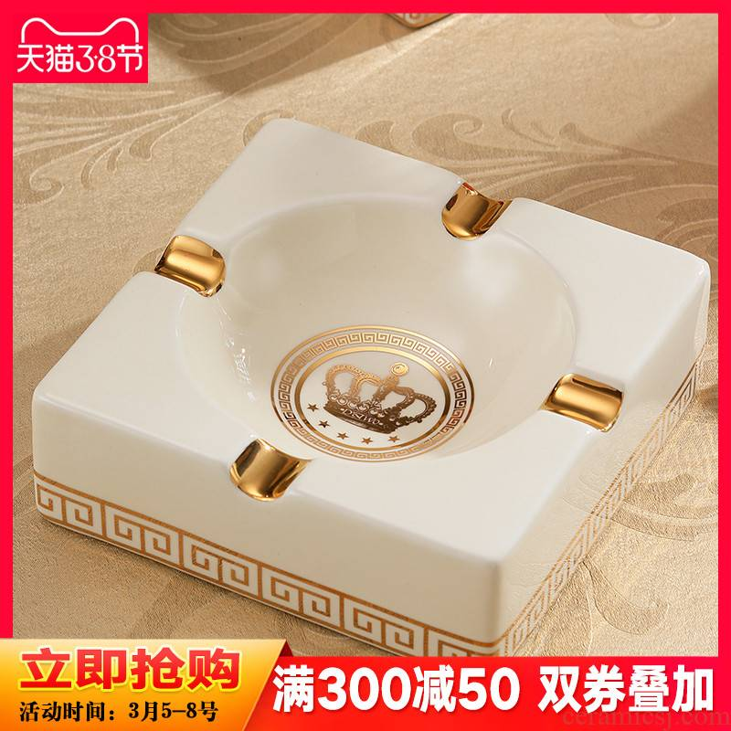 European ceramic ashtray practical creative fashion key-2 luxury big yards office furnishing articles sitting room tea table decorations