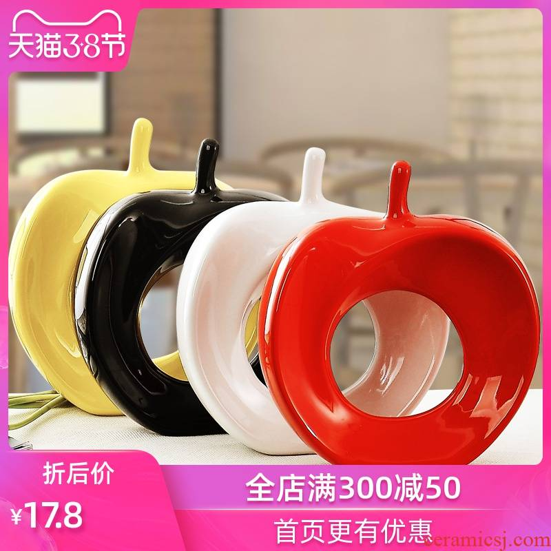 Household act the role ofing is tasted creative decoration ceramics craft a new home decoration furnishing articles wedding gift wedding apple in peace
