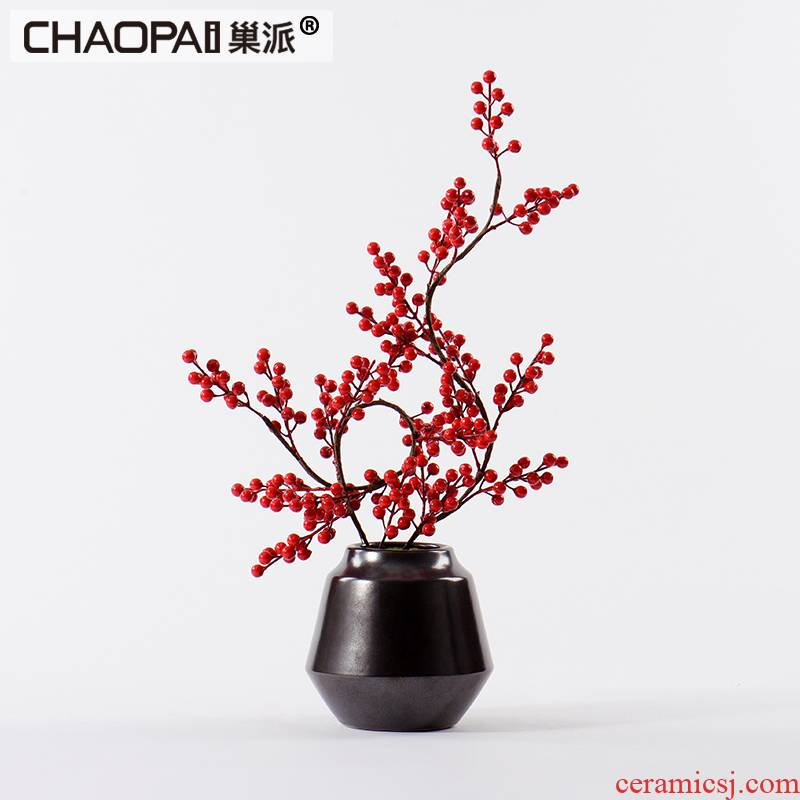 New Chinese style desktop ceramic bonsai flower art study TV ark of tea table decorations example room porch decoration in the New Year
