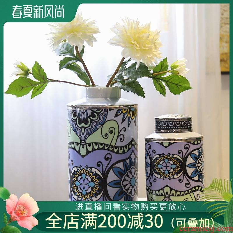 The New Chinese jingdezhen ceramic general European vase piggy bank can candy as cans furnishing articles between example hotel decoration