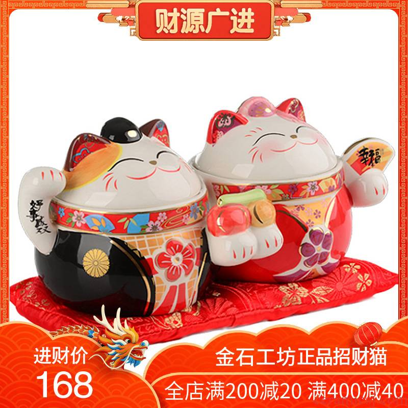 Double stone workshop good lovers plutus cat ceramic furnishing articles wedding wedding creative girlfriends novelty gift
