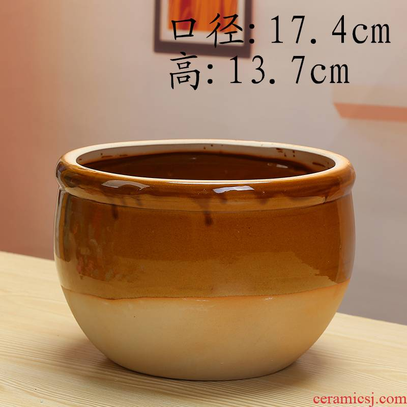 Move is a large water lily bowl lotus cylinder water raise money cooper plant grass lucky bamboo ceramic flowerpot without hole, high aquarium