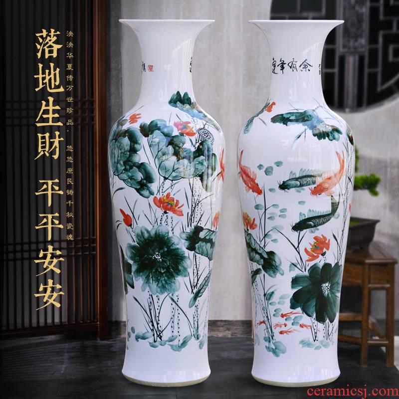 Jingdezhen ceramic hand - made the French hotel opening household vase housewarming company lobby decoration customised furnishing articles