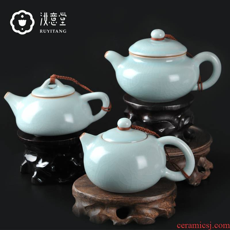 Archaize your up ceramic teapot kung fu tea set the teapot CiHu single pure manual household shih pot stone gourd ladle pot