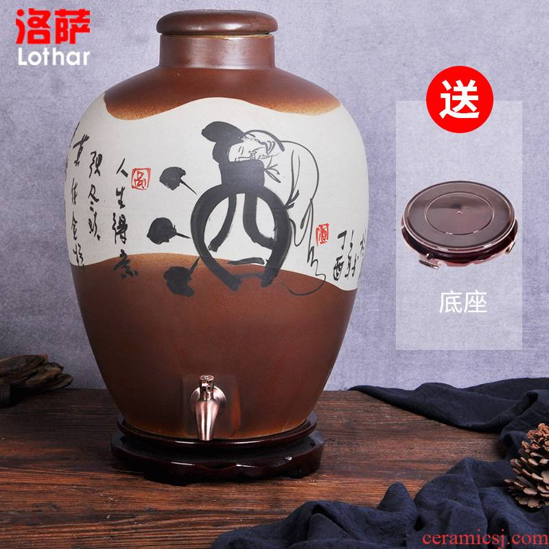 Jingdezhen ceramic jars 10 jins 20 jins 30 jins 50 kg terms bottle wine bottle it storing wine cask wine jars