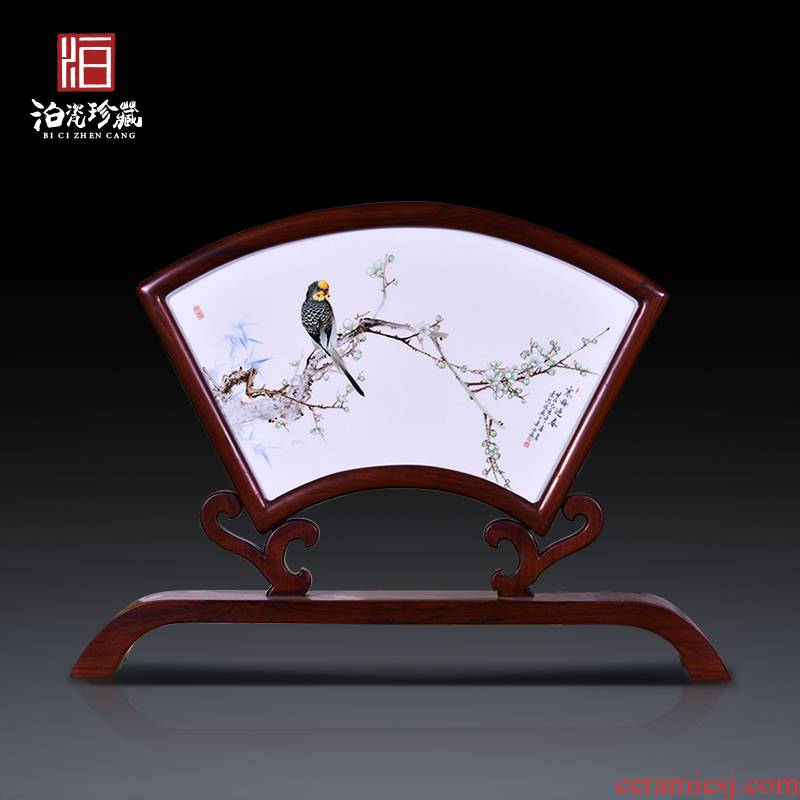Jingdezhen ceramic hand - made painting of flowers and decorative porcelain plate painter of new Chinese style wall of setting of the sitting room porch hang in furnishing articles