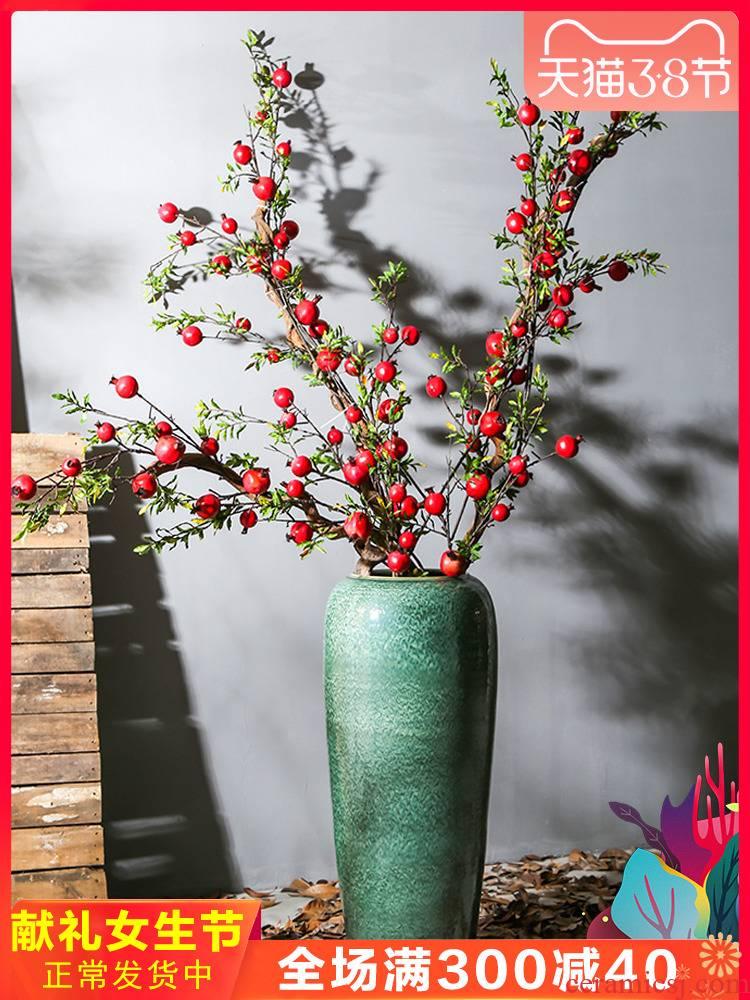 Jingdezhen up landing big vase hotel club teahouse ceramic fake flower flower implement living room TV cabinet
