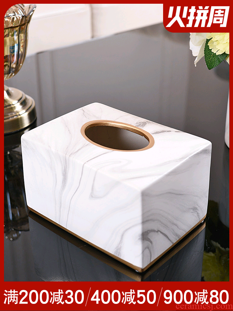 Jane 's light much wind marble ceramic pump cartons with I sitting room, dining - room with decorative napkin tissue box