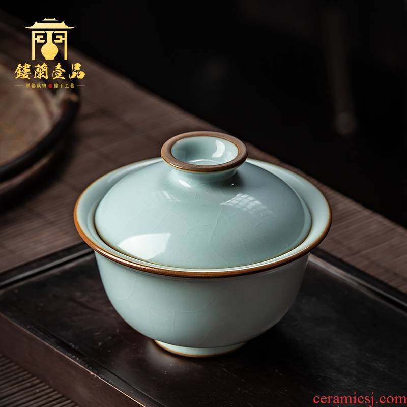 All hand copy your up jingdezhen ceramics slicing YunXiu only three tureen large household kung fu tea bowl of tea