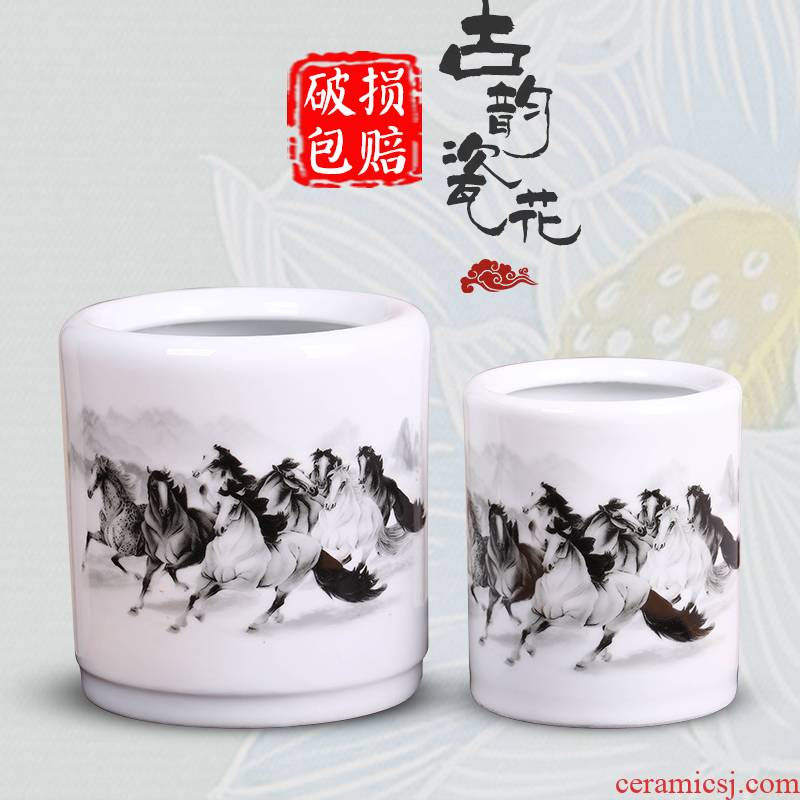 Jingdezhen ceramics antique vase creative writing brush washer study adornment fashion office furnishing articles the teacher 's day gifts