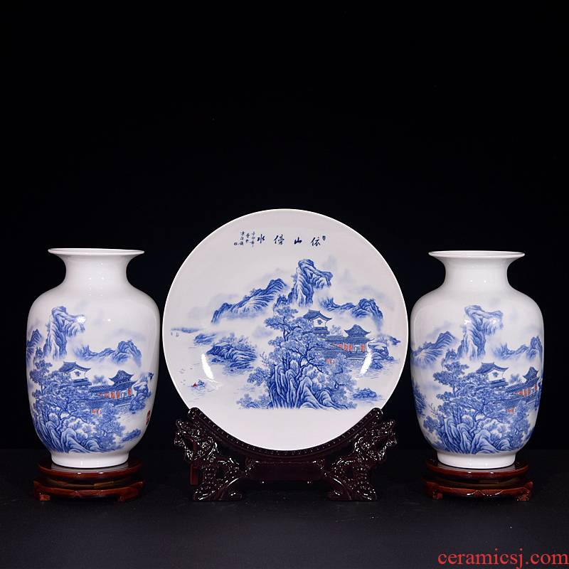 Jingdezhen ceramics wine accessories modern home sitting room place vase crafts table decoration
