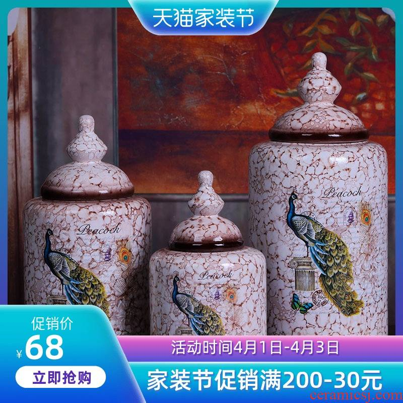 Jingdezhen ceramic painting of flowers and American countryside vase furnishing articles to decorate household act the role ofing is tasted table vases, ceramic pot