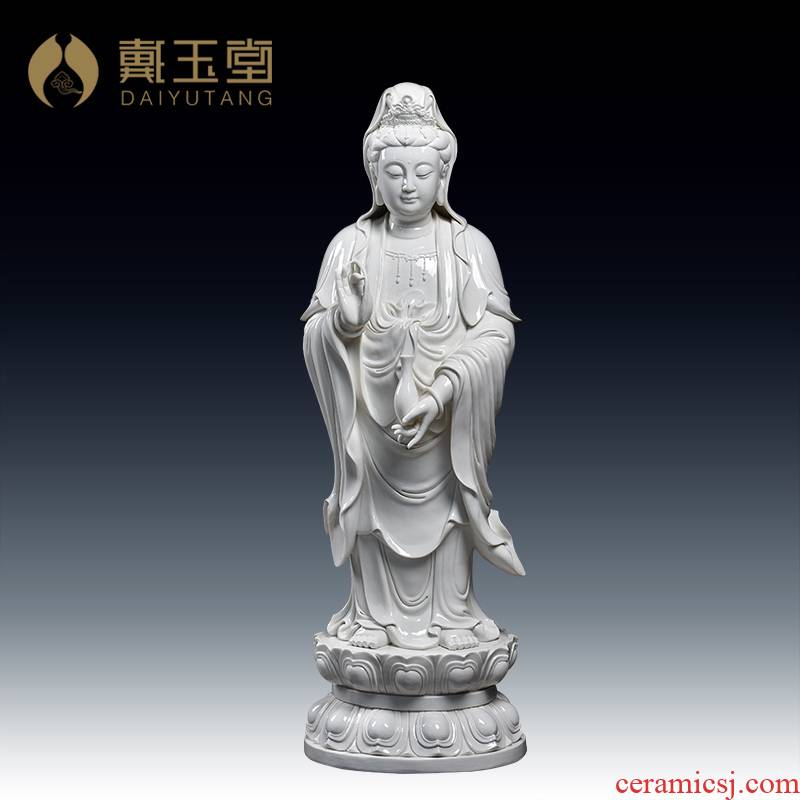Yutang dai ceramic large avalokitesvara figure of Buddha enshrined furnishing articles/95 cm Gao Lilian guanyin D12-36