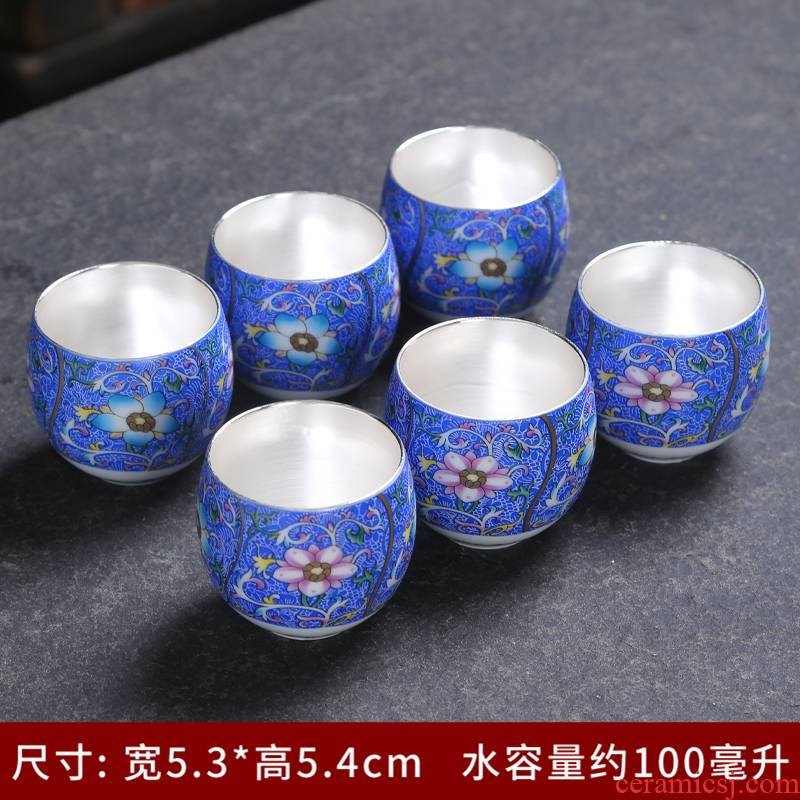 Jingdezhen kung fu tea set ceramic cups archaize color master cup paint sample tea cup single cup, small cup pick flowers