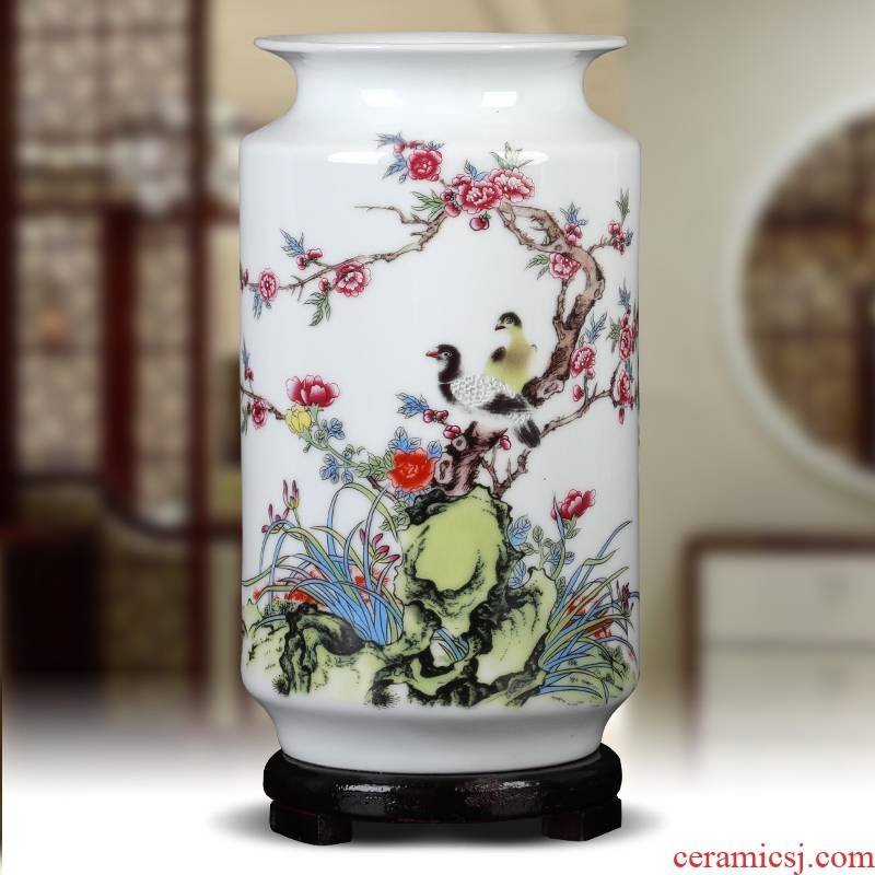 Ceramics creative lucky bamboo vase home sitting room table flower arranging small white porcelain products study place ornament