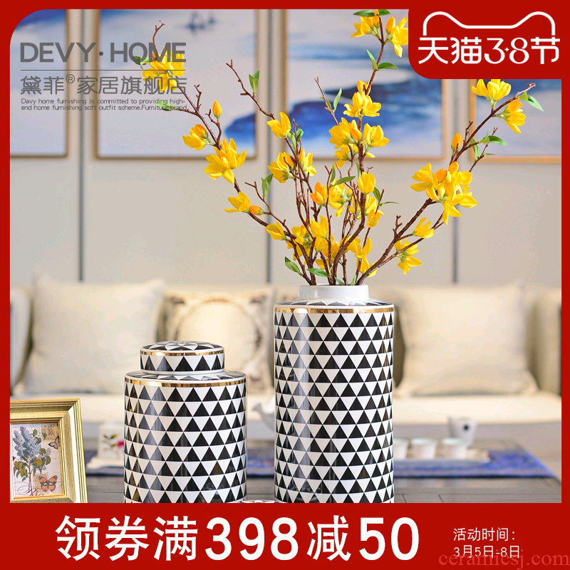 Modern light key-2 luxury furnishing articles of pottery and porcelain household act the role ofing is tasted American sitting room porch ark, vase storage tank handicraft decoration