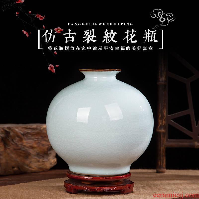 Jingdezhen ceramics vase crack Chinese penjing flower arranging porcelain wine handicraft decorative household items