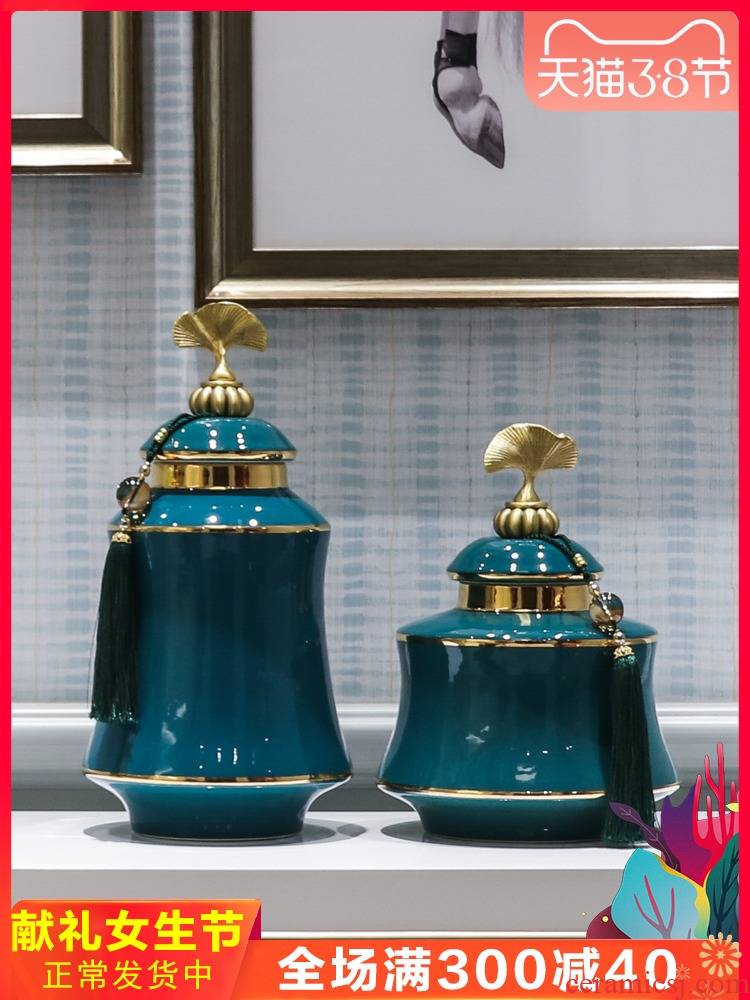 Jingdezhen ceramic piggy bank furnishing articles European modern simplicity flower vase floral outraged TV ark, big furnishing articles