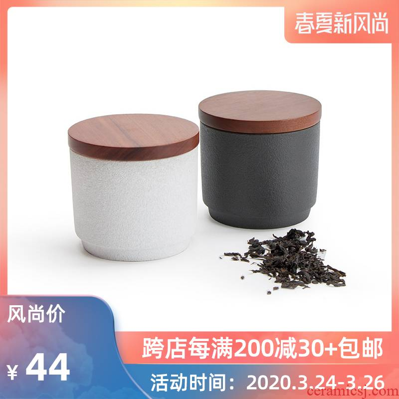 Mr Brigade of nanshan sweet tea tin with ceramic seal moisture storage POTS travel tea warehouse to restore ancient ways small POTS