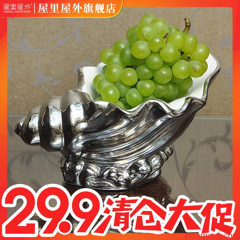Creative I and contracted sitting room fruit bowl bowl dried fruit basket ceramics compote decoration snack dish between example furnishing articles
