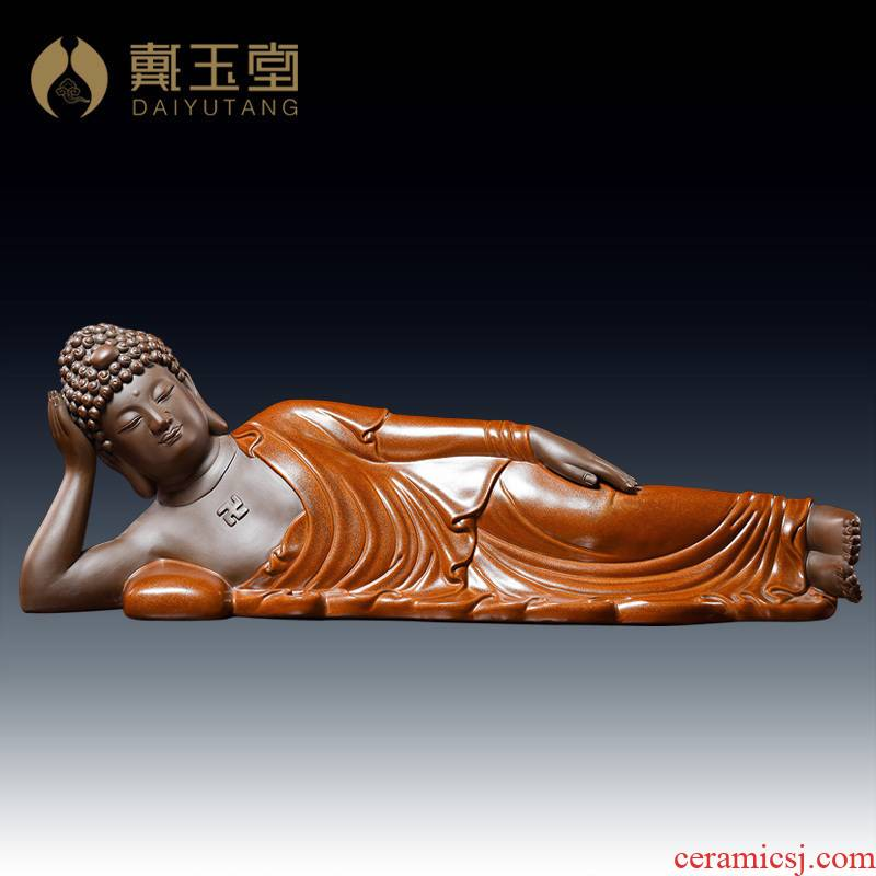 Yutang dai household dehua ceramic Buddha sakyamuni tathagata Buddha worship that occupy the home furnishing articles/sleeping Buddha sitting room
